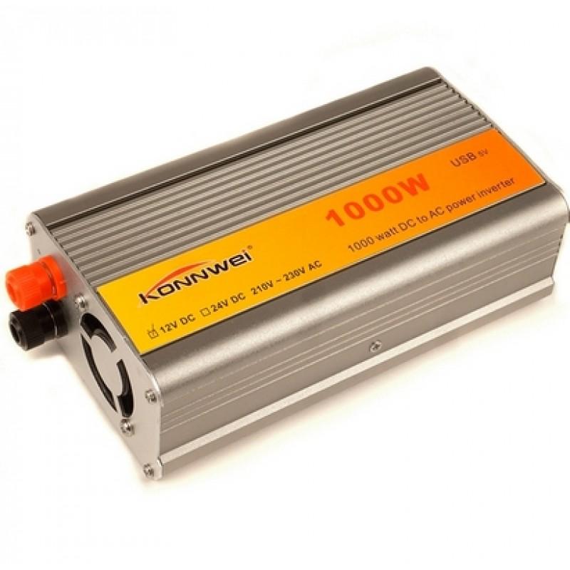 Инвертор напряжения 12-220 Вольт 1000 Вт KONNWEI