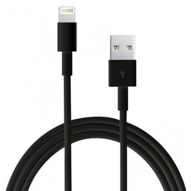 USB кабель для iPhone 5/6/7 черный шнур 1м iP1M