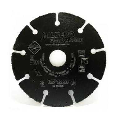 Алмазный диск отрезной Super Wood 125x22.23 Hilberg