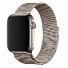 Ремешок металлический бежевый для Apple Watch 42/44 мм