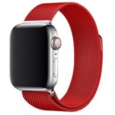 Ремешок металлический красный для Apple Watch 42/44 мм