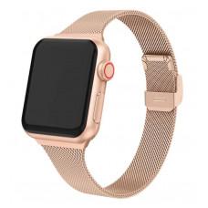 Ремешок металлический красно-золотой для Apple Watch 42/44 мм