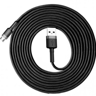 USB кабель черно-серый 3 м MicroUSB Baseus