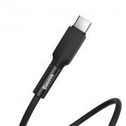 USB кабель черно-серый 1 м Type-C Baseus Silica Gel Cable
