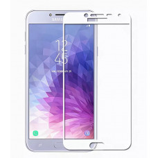 Защитное стекло белое для Samsung J4 (2018) BINGO