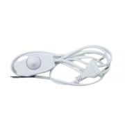 Шнур сетевой с вилкой и выключателем с диммером1.7 м 2 А 500 Вт белый UCX-C30/02A-170 WHITE UL-00004439