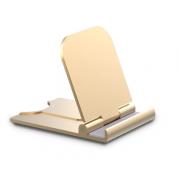 Держатель на стол для телефона алюминий золотой