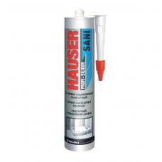 Герметик силиконовый бесцветный санитарный  260мл HAUSER SANI