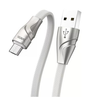 USB кабель U57 Type-C серебристый 1.2м Hoco