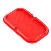 Коврик нескользящий с бортом красный большой 10х15.5 см Smart Phone