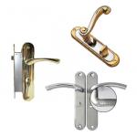 Ручки дверные на планке с механизмом для межкомн. дверей