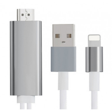 Кабель Lightning 8 pin — HDMI HDTV для iPhone 5/6/7 PREMIER 8 pin-HDMI Adapter