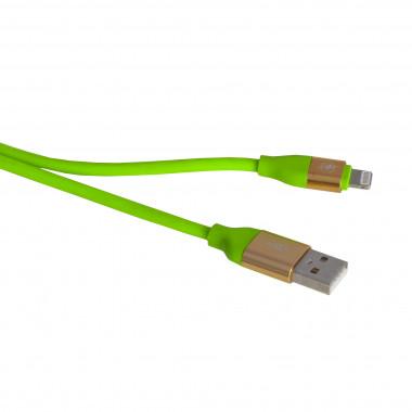 USB кабель салатовый iPhone 1 м каучуковая оплетка MRM-Power R12