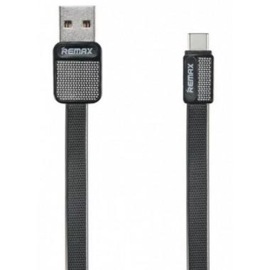 USB дата-кабель плоский для iPhone 5/6 черный 1м Remax Platinum RC-044i
