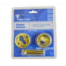 Броненакладка на цилиндр MTL золото MUL-T-LOCK 730у1032
