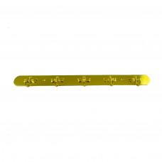 Вешалка металлическая пластина 5 крючков золото Стрекоза