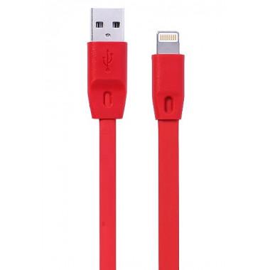 USB кабель красный Apple lightning 1 м каучуковая оплетка MRM-Power R12