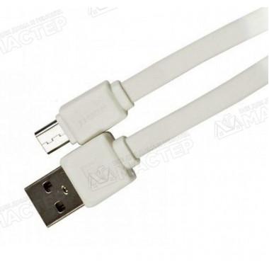 USB дата-кабель плоский microUSB серый 1 м Remax FAST RC-008m