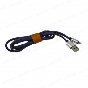Кабель microUSB 1 м Jeans Cloth PowerLine