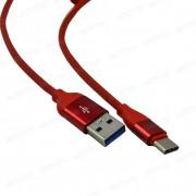 USB кабель Type-C красный 1 м каучуковая оплетка MRM-Power R12