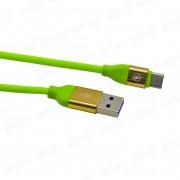 USB кабель салатовый Type-C 1 м каучуковая оплетка MRM-Power