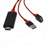 Адаптер-переходник 1 м USB - HDMI HDTV Cable для iPhone/microUSB/USB-C