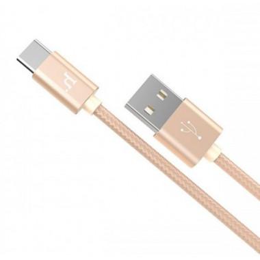USB кабель золотой для Type-C Hoco X2