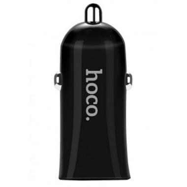 Автозарядка черная 2 USB HOCO Intelligent Balance Z12