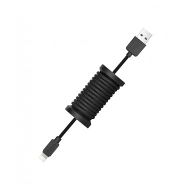 USB кабель черный 1.1 м для iPhone Hoco Silica gel storage U12