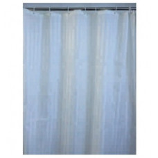 Шторы для ванны из ткани бежевая полоска 180х200 см SAVOL S-01820D