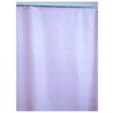 Шторы для ванны из ткани розовая полоска 180х200 см SAVOL S-01820С