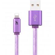 USB кабель фиолетовый 1.2 м для iPhone Hoco UPL12