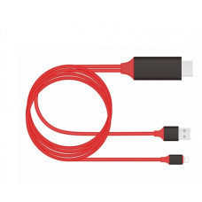 Адаптер-переходник 2 м Lightning 8 pin - HDMI HDTV Cable для iPhone 5/6/7 iPad REXANT 7522