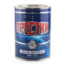 Эмаль белая матовая 0.9 кг Престиж ПФ-115 3051