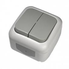 Выключатель двухклавишный влагозащитный VIKO 90555502