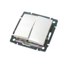 Выключатель двухклавишный белый Legrand 774405