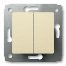 Выключатель двухклавишный белый Legrand 773758