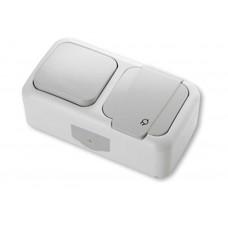 Блок выключатель+розетка VIKO 90555581