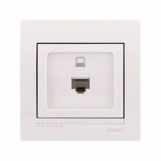 Розетка компьютерная белая Lezard 202-139