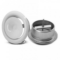 Диффузор металлический для гофрканала D-130 мм белый VENTS