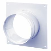 Диффузор металлический для гофрканала D-140 мм белый VENTS