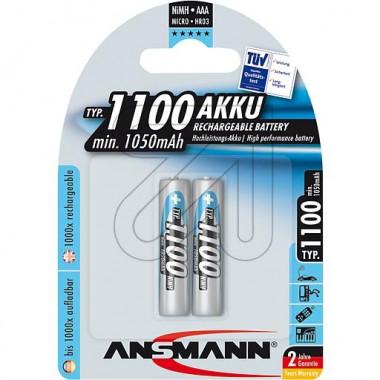 Аккумулятор ANSMANN MN1000AAA 5030892 BL2 05200
