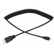 Шнур HDMI - mini HDMI 2 м витой черный REXANT 17-7120