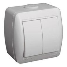 Выключатель накладной белый Lezard 710-0200101