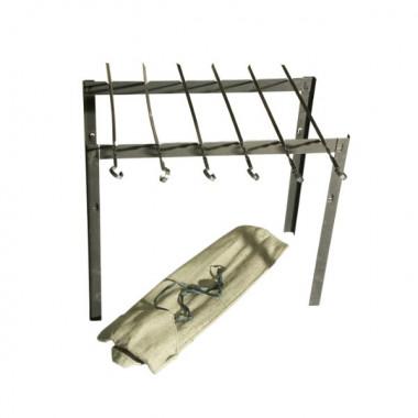 Набор шампуров 450 мм с мини-мангалом в чехле С641/1