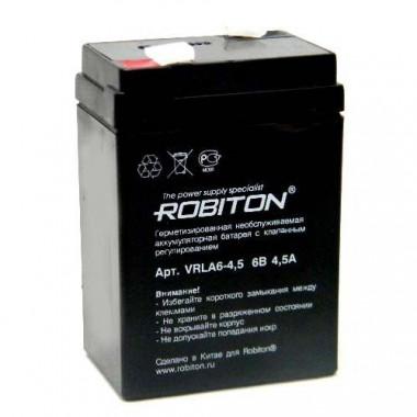 Аккумулятор Robiton VRLA6-4.5 07627