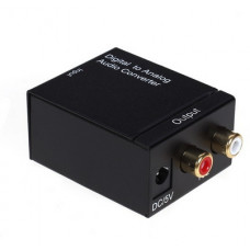 Аудио конвертер Analog 2RCA(R/L)-Digital coaxial +toslink DAYTON 10-0010