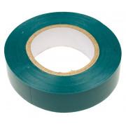 Изолента ПВХ 19 мм х 20 м зеленая SAFELINE