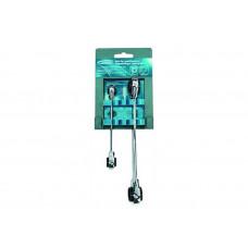Набор ключей накидные с трещоткой GROSS 14893