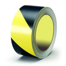 Лента сигнальная 50 мм х 100 м черно-желтая FIT 11855